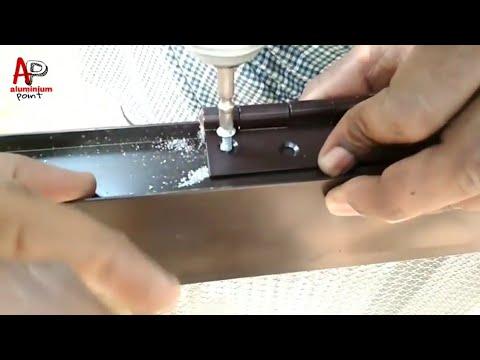 How to make a aluminium door अलुमिनियम का दरवाजा बनाएं