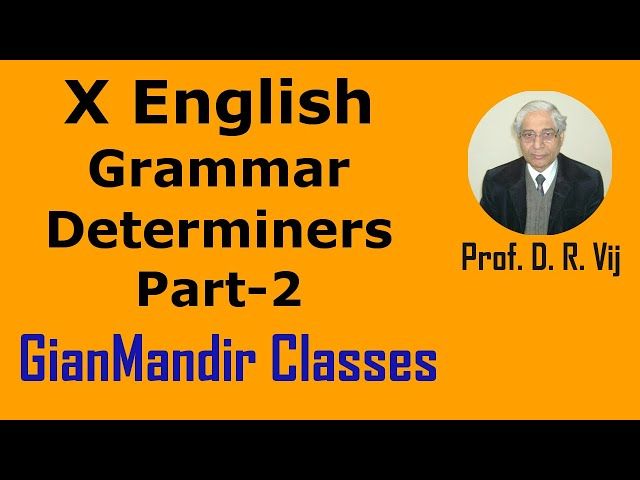 X English | Grammar | Determiners Part-2 by Nandini Ma'am