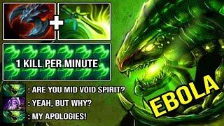 REAL EBOLA SOLO MID VIPER 7.23 EZ Counter Void Spirit IMBA 1Kill Per Min & RAMPAGE DotA 2