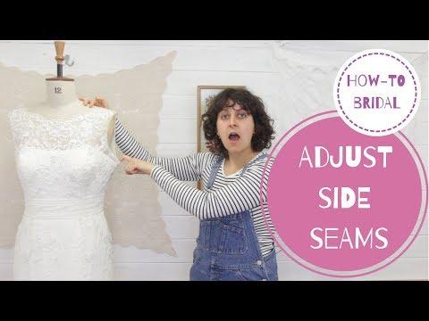 BRIDAL ALTERATIONS | ADJUST SIDE SEAMS TUTORIAL + 2 pro tips