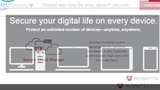 try McAfee Livesafe Free - Intel Security