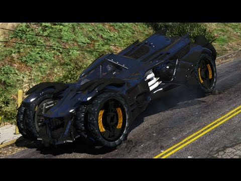 GTA 5 PC Mods - Batman Arkham Knight Batmobile