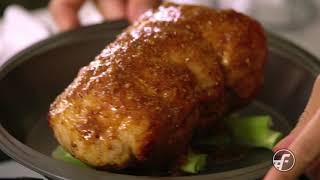 Glazed Pork Sirloin Roast with Pineapple Vinaigrette