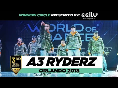 A3 Ryderz | 3rd Place Team Division | World of Dance Orlando 2018 | #WODFL18