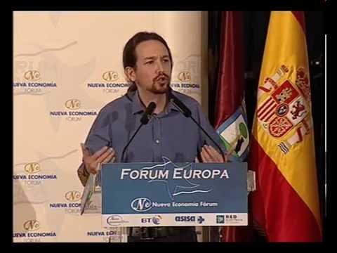 Fórum Europa con Pablo Iglesias