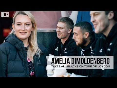All Blacks Vs Chicken Shop Date | Amelia Dimoldenberg Takes New Zealand Rugby Team On London Tour