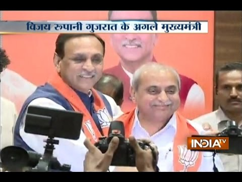 Vijay Rupani Named as New Gujarat Chief Minister; Nitin Patel to Be Deputy CM