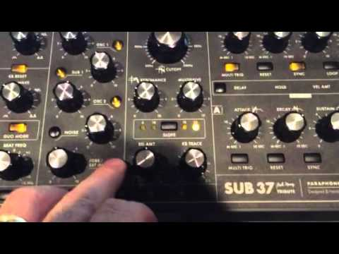 moog sub 37 sequencer with guitar pedals youtube. Black Bedroom Furniture Sets. Home Design Ideas