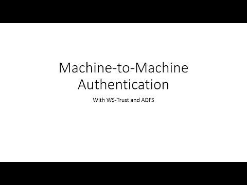 Machine to machine authentication with WebAPI, WS-Trust and ADFS