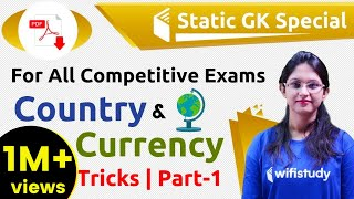 8:45 PM - Static GK by Sushmita Ma'am   Country & Currency Tricks (Day #1)