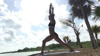 Once Upon a Time, Yoga in Mexico, with Evolved Being : Warrior 1 to Pyramid Pose