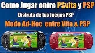 Como Jugar entre PSVita y PSP Modo Ad-Hoc - TUTORIAL FACIL Vita vs PSP