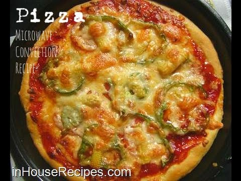 Veg Pizza In Microwave Convection Oven