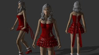 Applying physics rules to the clothes of Nurien MStar models (basic)