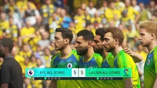 Premier league all stars vs la liga all stars i pes 2018 penalty shootout