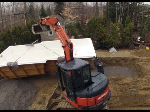 construction installation piscine monocoque en fibre de verre youtube. Black Bedroom Furniture Sets. Home Design Ideas