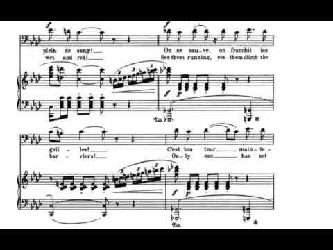 Votre toast, Je peux vous le rendre (Carmen - G. Bizet) Score Animation