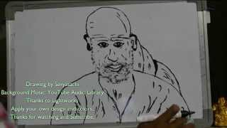 How to draw SHIRDI SAI BABA