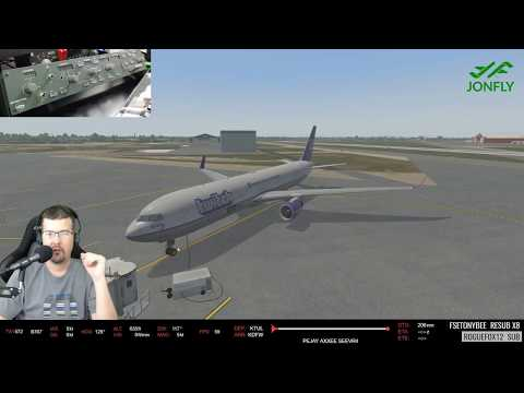 Flight Factor 767-300 X-Plane 11 and GoFLight MCP-Pro Panel and BetterPushback
