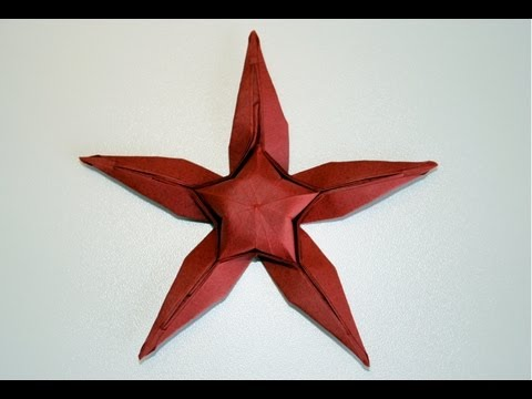 origami etoile de mer starfish senbazuru youtube. Black Bedroom Furniture Sets. Home Design Ideas