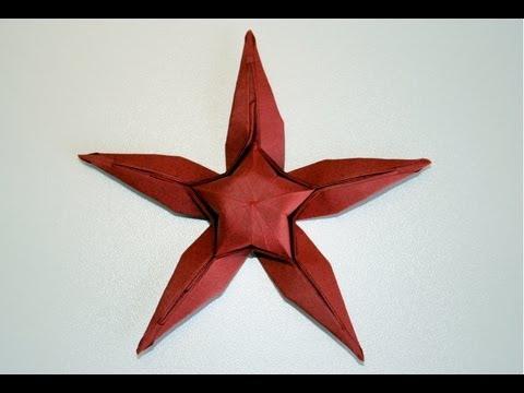 Origami Etoile De Mer Starfish Senbazuru Youtube