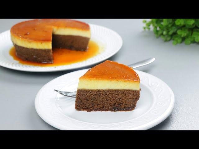 চুলায় তৈরি পুডিং কেক | Choco flan Pudding | Cake Pudding/pudding cake | Flan Cake/Custard Flan cake