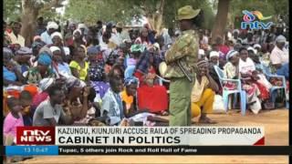 Devolution CS accuses Raila of spreading propaganda against Uhuru