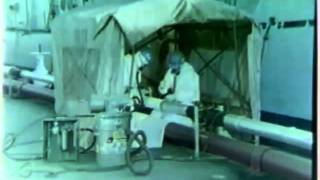 Asbestos Abatement Procedures Outdoors 1980 US Navy