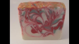 Making And Cutting Cold Processed Peppermint Swirl Christmas Soap