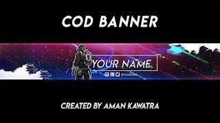 Call Of Duty Banner Template | Speedart #15 (FREE DOWNLOAD)