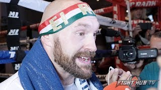 TYSON FURY ON FIGHTING ANDY RUIZ