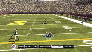 NCAA Football 12 gameplay: Notre Dame vs. Michigan (Xbox 360)