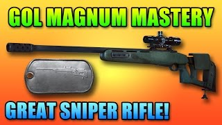 BF4 Gol Magnum Mastery Dog Tag | 500 Kills Battlefield 4 Sniper Gameplay