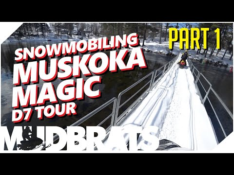 Snowmobiling Muskoka Magic Tour |. Bracebridge To Port Carling OFSC | PART 1 Of 3