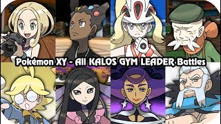 Pokémon X/Y -  Every Kalos Gym Leader Battles