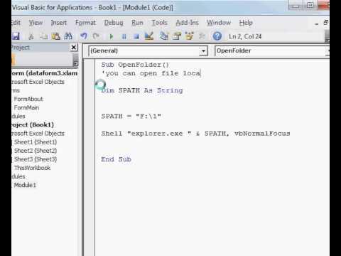 Open Folder form vba