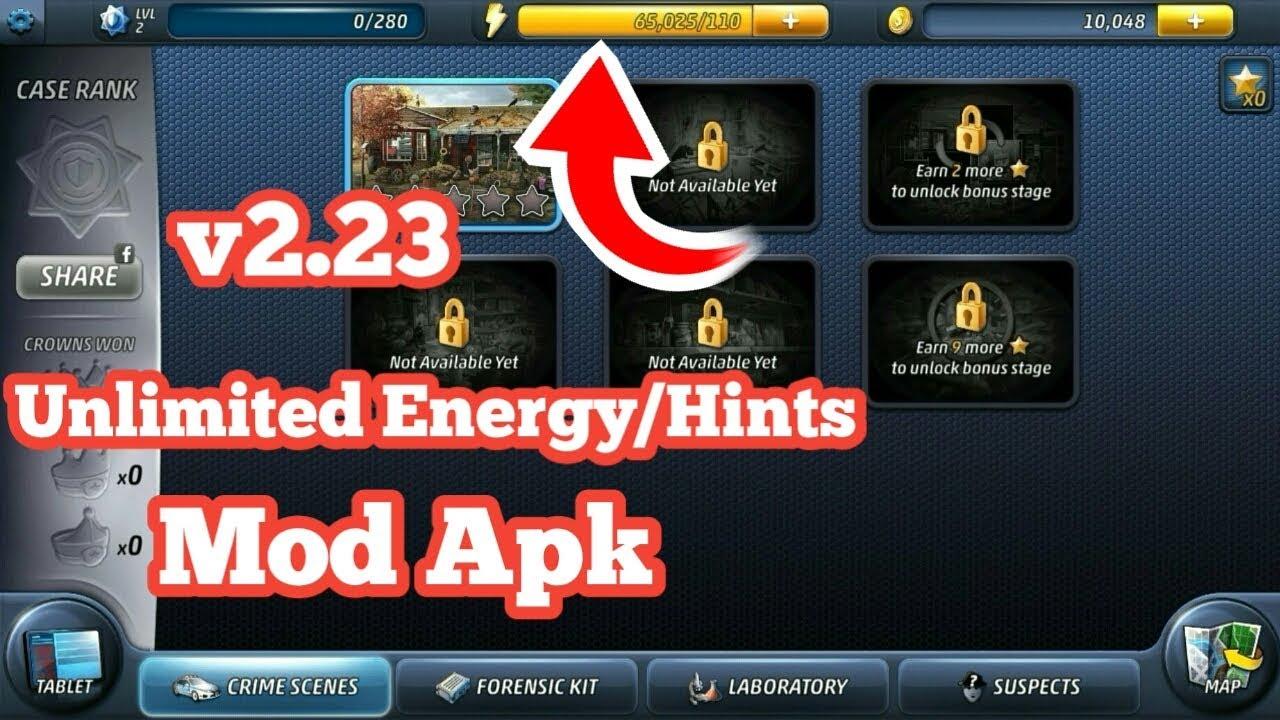 Criminal Case 2 23 Unlimited Energy Hints Mod Apk No Root