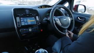 видео: Nissan Leaf  -30 утепляем батарейку