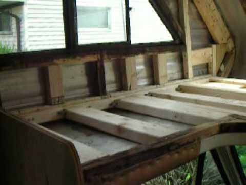 C Class Motorhome Over Cab Bed Loft Rebuild 3 Youtube