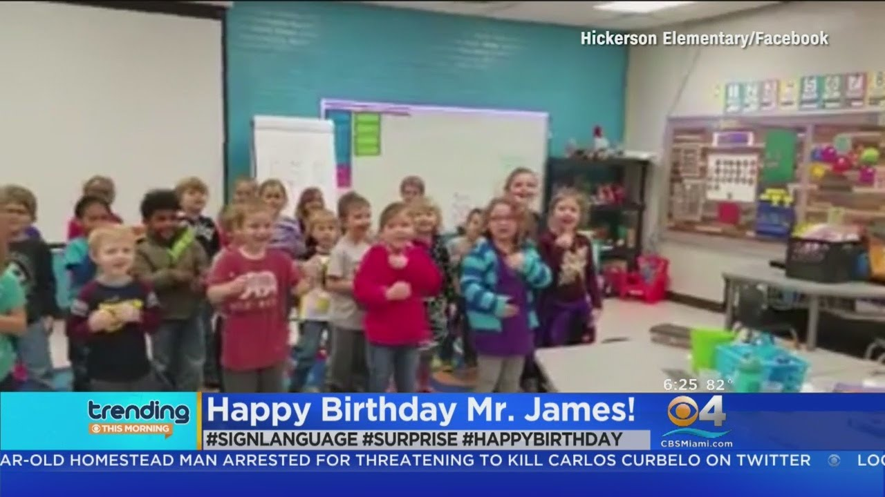 Trending Students Give Beloved Custodian Special Birthday Present