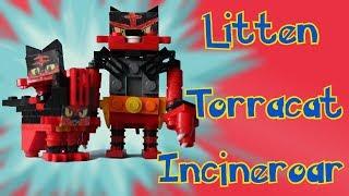 Lego Pokemon: Litten, Torracat, Incineroar Animation + Instructions