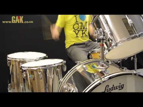 Ludwig - Stainless Steel John Bonham Reissue Kit Demo at GAK