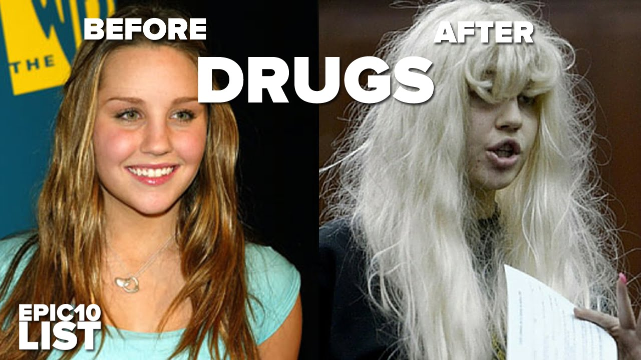 10 celebrities before and after drugs - youtube
