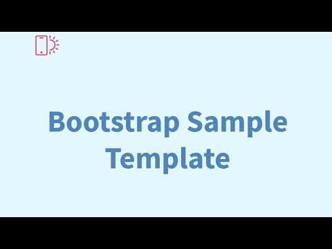 Bootstrap Sample Template Free Html Website Templates Youtube