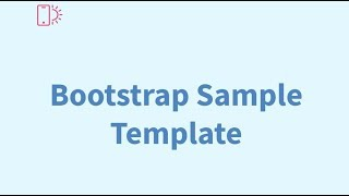 Bootstrap Sample Template - Free HTML Website Templates thumbnail