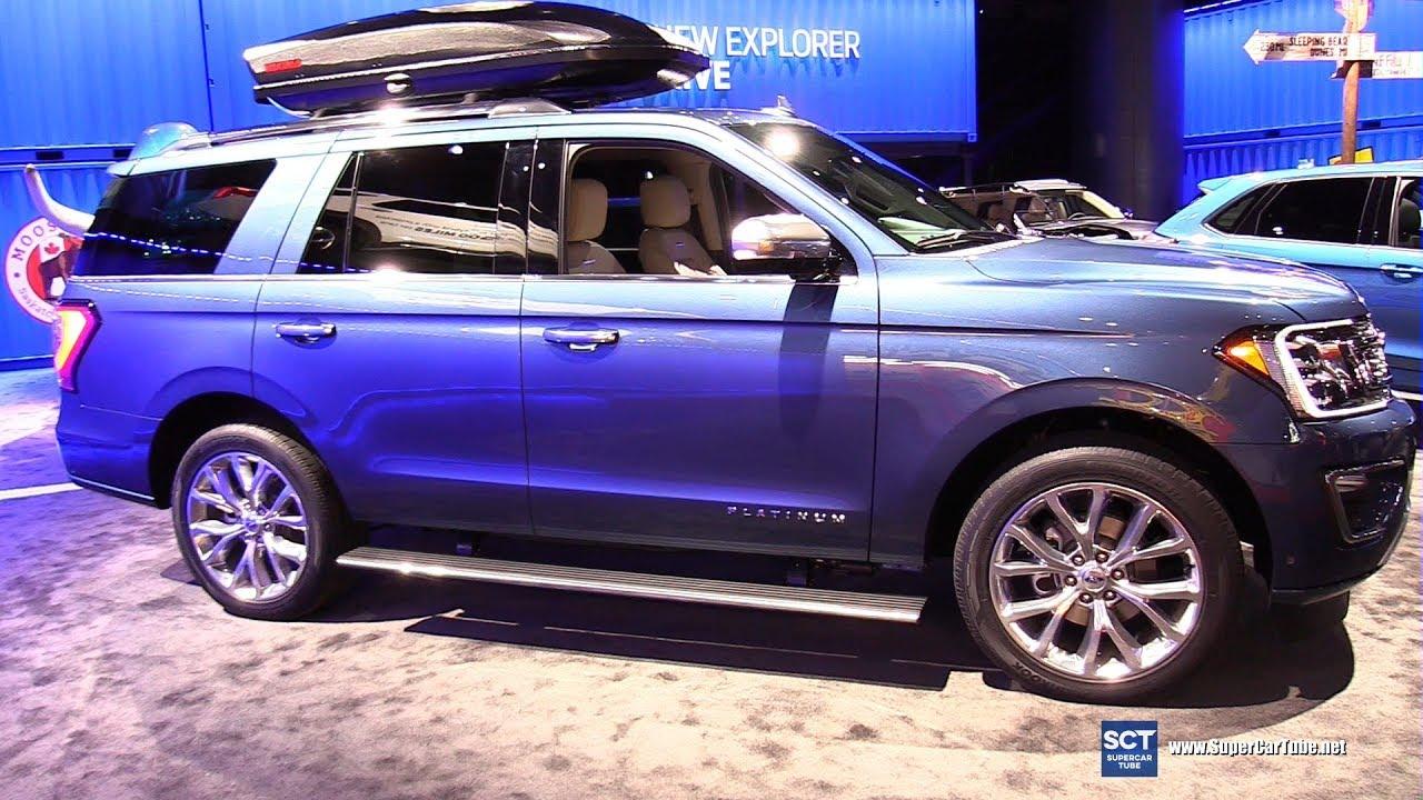 ford expedition platinum exterior  interior walkaround  detroit auto show youtube