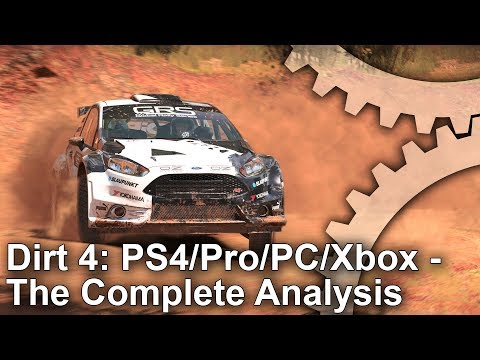 Dirt 4: PS4/PS4 Pro/Xbox One/PC - Graphics Comparison + Frame-Rate Test