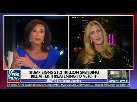 ANN COULTER FULL ONE-ON-ONE INTERVIEW WITH JUDGE JEANINE PIRRO (3/24/2018)