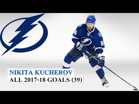 Nikita Kucherov (#86) All 39 Goals of the 2017-18 NHL Season