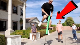 MY BAD POGO STICK ACCIDENT!! (ARM BROKEN)